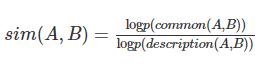义项相似程度计算公式