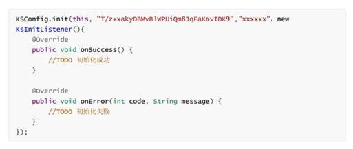 初始化SDK代码程序